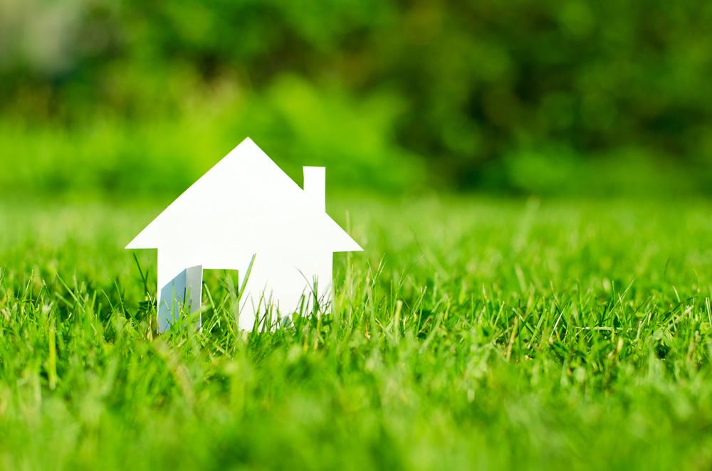 House Model in Green Field